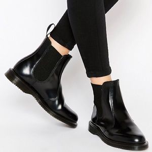 Dr. Martens Flora Chelsea Ankle Leather Boots